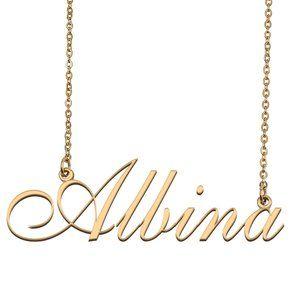 Custom Personalized Albina Name Necklace